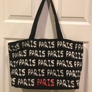 PARIS BLACK, WHITE AND PINK TOTE